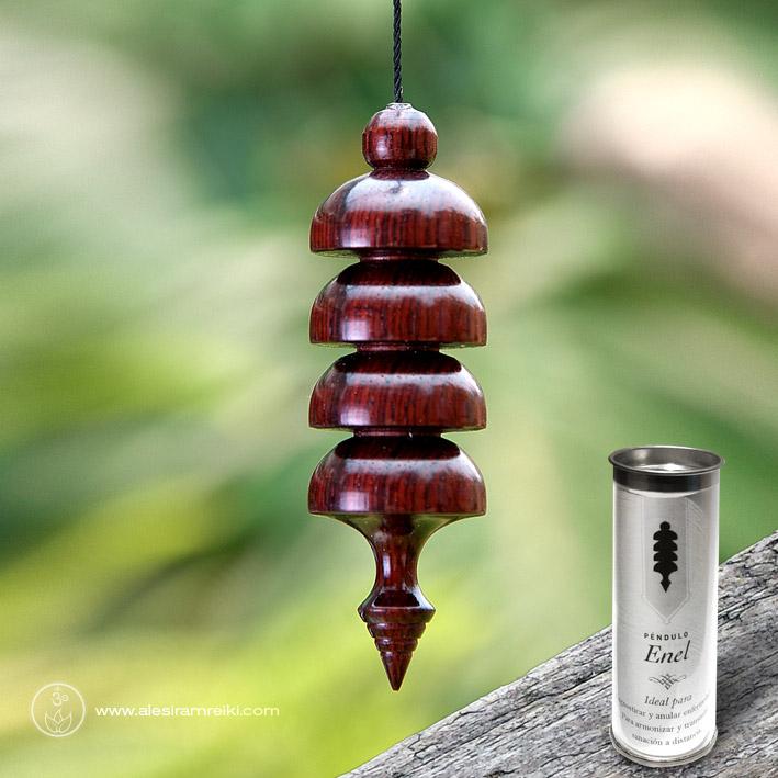 Péndulo Enel de madera con envase