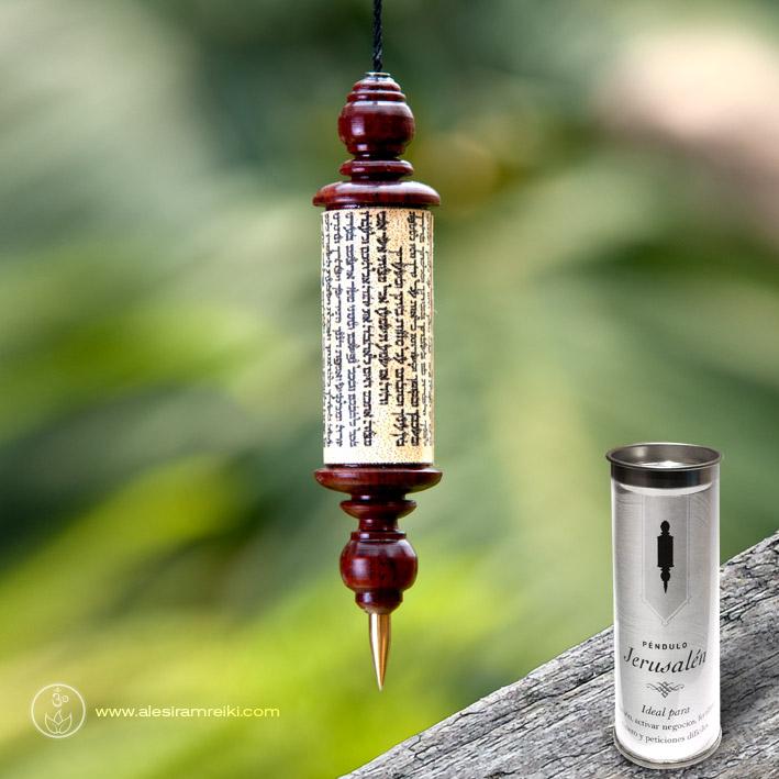 Péndulo Jerusalén de madera con envase