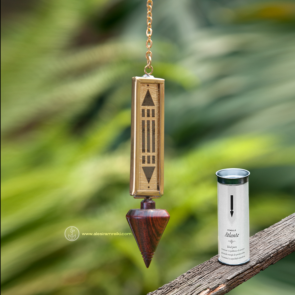 Péndulo Atlante de madera